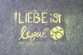 Graffiti LIEBE ist legal